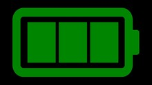 The Green Battery Icon Of A Re...