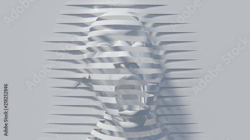 Fotografía shout abstrat illusion background. 3D Illustration