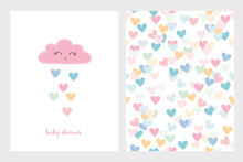 Set Of Two Cute Vector Illustr...