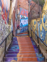 Graffiti Covered Stairs, Valpa...