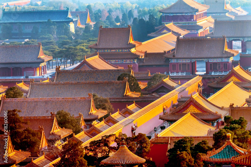 Yellow Roofs Forbidden City Beijing China
