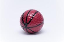 Golfball Painted Like A Basketball Ball Golf Ball