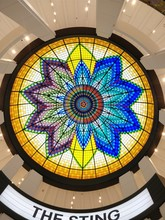 Colourful Stained Glass Dome.