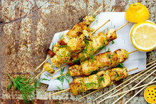 Chicken Skewers With Pineapple...