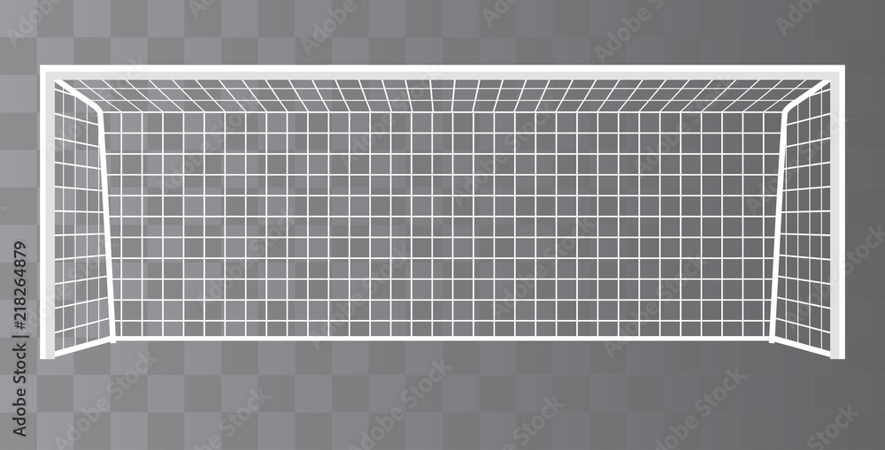 Fototapeta Soccer goalpost, Football goal on a transparent background. Vector