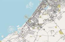 Map Of The City Of Dubai, Unit...