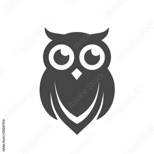 Fototapeta premium Owl Logo Template, Owl icon simple vector icon