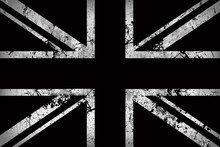 Flag Of England In Black And W...