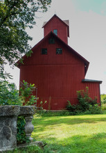 View Of The Back Of The Historic Old Red Mill Museum And Town Offices In Jericho, Vermont