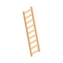 Wood Ladder Home Farm Icon. Is...