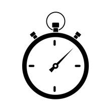 Простая иконка секундомера. Векторная иллюстрация для Ваших проектов.