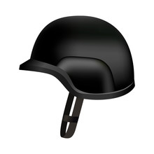 Black Protect Police Helmet Mo...