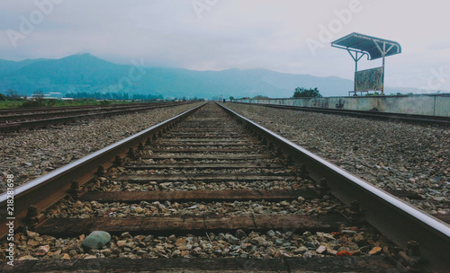 Keuken foto achterwand Spoorlijn Ferrocarril