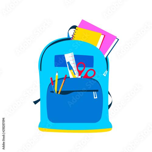 Fototapeta School backpack for children and education concept obraz