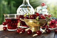 Cherry Liqueur In Crystal Cara...