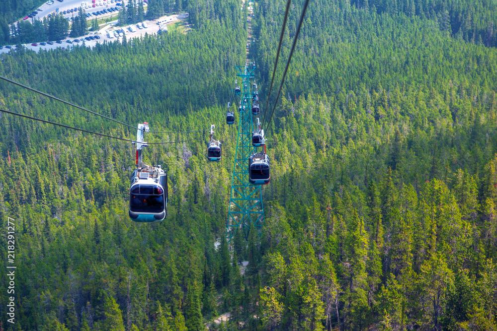 Fototapeta Sulphur Mountain Gondola in Banff National Park
