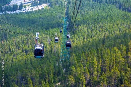 Poster Gondoles Sulphur Mountain Gondola in Banff National Park