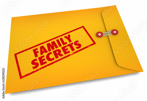 Photo Family Secrets Heredity Ancestry Research 3d Illustration
