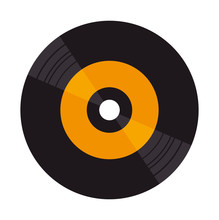Vinyl Disk Isolated Icon