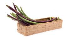 Basket Of Yardlong Bean Isolat...