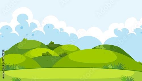 Fototapeta A beautiful green mountain landscape obraz
