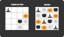 Sudoku Game With Halloween Pic...