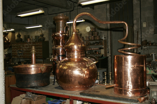 Photo Copper alembic in old copper factory