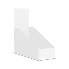 Blank Display Box Mock Up - Half Side 3/4 View. Vector Illustration