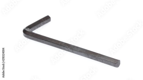 hexagon or allen wrench isolated on white background Wallpaper Mural