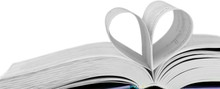Book With Pages Folded In The Shape Of A Heart - Isolated Image