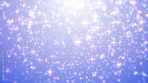 Star Blur Background With Bokeh Effect Out Of Focus