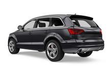 Black SUV Car Isolated