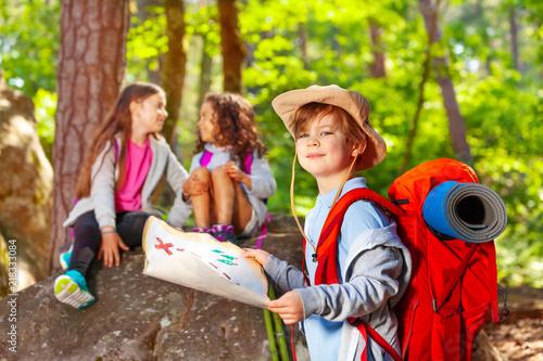 Navigation activity game of treasure hunting Fototapeta