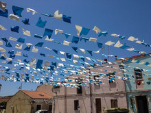 Decorative Flags In The Wind F...
