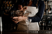 Female Barman Hand Pouring Fre...