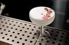 Elegant Cocktail Glass Filled ...