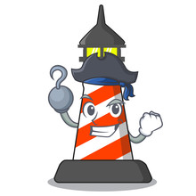 Pirate Lighthouse Character Cartoon Style