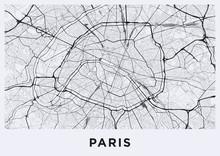 Light Paris City Map. Road Map...