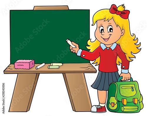 Poster Voor kinderen Happy pupil girl theme image 8
