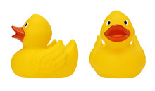 Set With Yellow Rubber Duck On...