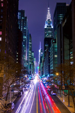 Night Traffic On 42nd Street O...