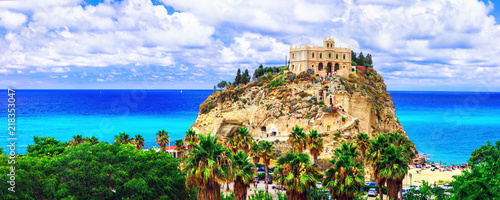 Landmarks of Calabria - iconic church in Tropea - Santa Maria dell'Isola . Italy