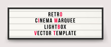 Retro Cinema Marquee Lightbox ...