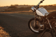 Vintage Motorcycle On Country ...