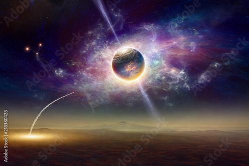 Naklejki kosmos  kosmiczna-rotacja