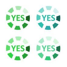 Button For Vote YES