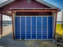 Lot Of Mailboxes On The Rural Island Hjarnoe Jutland