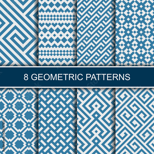 Set of vector geometric patterns Canvas Print