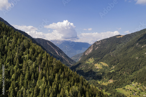 Mountain valley in Valtellina. Val Belviso Canvas Print