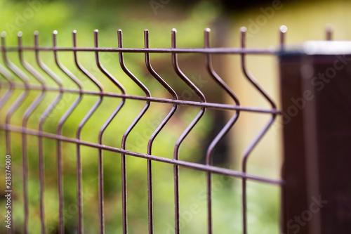 Obraz na plátne welded metal wire mesh fence closeup